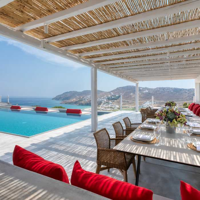 Destiny Resort Mykonos - Outdoor dining area