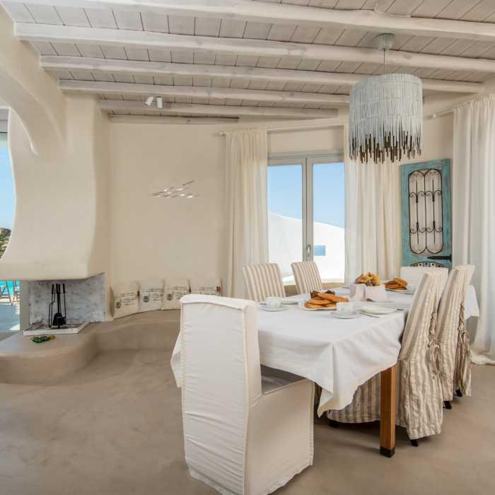 Melmastia Villa Mykonos - Breakfast/dining area